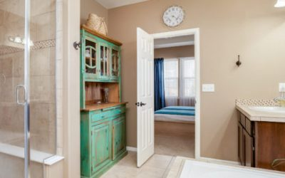 Placing furniture in your bathroom is now trending.